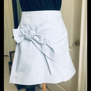 NWT Loft light blue skirt with nice bow on side